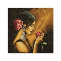 Алмазная вышивка «Испанская красавица»