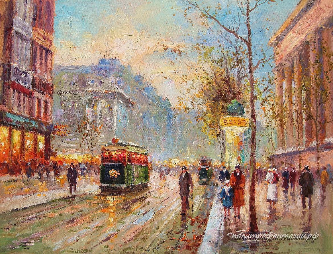 Картина Вечерний Париж
