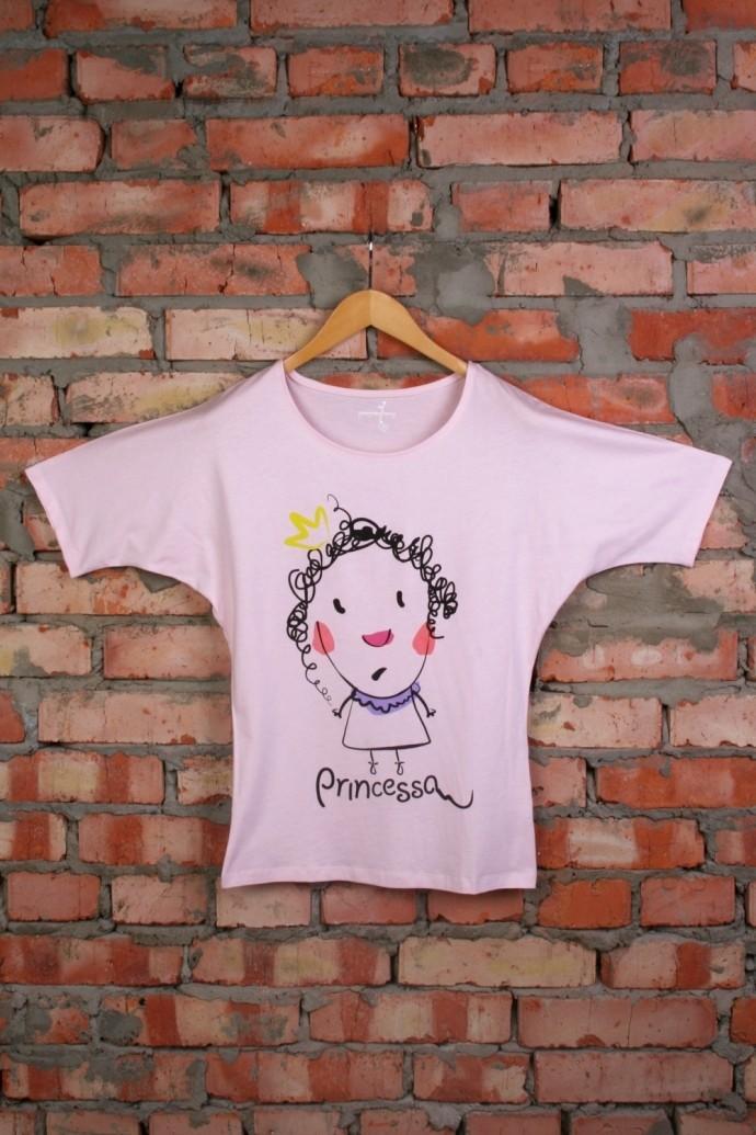 Женская футболка с рисунком Принцесса