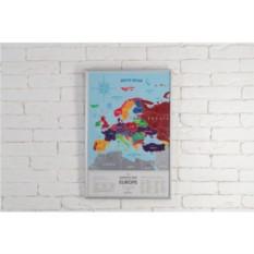 Скретч-карта Европы Silver