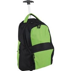 Зеленый рюкзак на колесиках