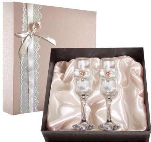 Набор свадебных бокалов №45 в подарочной коробке