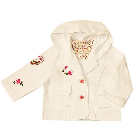 Пиджак хлопковый с капюшоном Wojcik 68-86 см