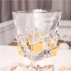 Хрустальный стакан для виски Gold