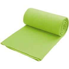 Зеленый флисовый плед