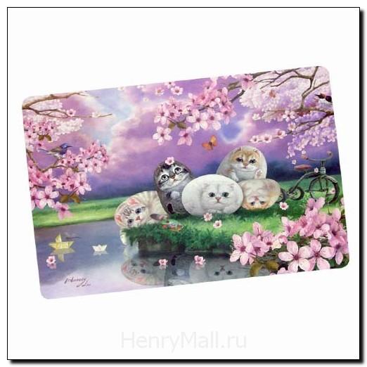 Салфетка под тарелку и приборы «Цветы вишни»