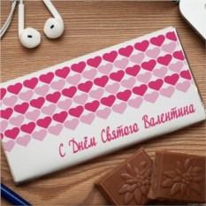 Шоколадная открытка  С днём святого Валентина