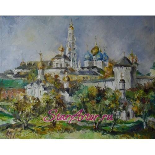 Авторская картина Пейзаж Свято - Троицкая Сергиева Лавра