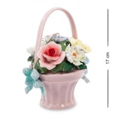 Фарфоровая композиция Цветочная корзина