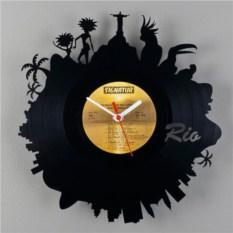 Часы из виниловой пластинки  Рио