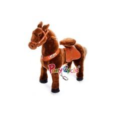 Детская средняя механическая каталка Коричневая лошадка