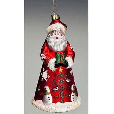 Санта в красной шубе
