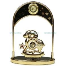 Фигурка Swarovski с часами - знак зодиака Овен