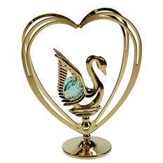 Фигурка с кристаллами Swarovski Лебедь в Сердце