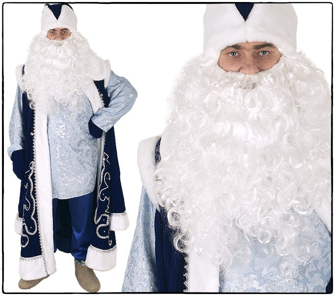 Костюм Дед Мороз в pубахе, синий