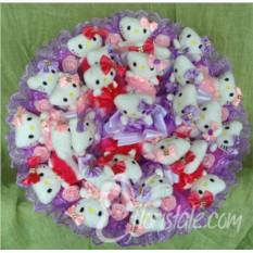 Букет из Hello Kitty Воздушный поцелуй