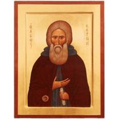 Сергий Радонежский Святой преподобный. Икона на доске.