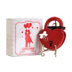 Подарочный замочек любви с бантом Бантик и Сердце