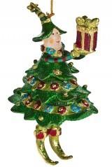 Новогоднее украшение Девочка в костюме елки