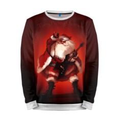 Мужской свитшот Дед Мороз рокер