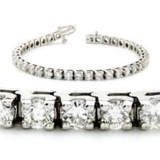 Теннисный браслет из серебра с камнями Jasmine (5,8 карат)