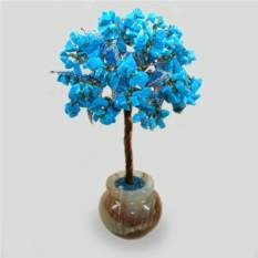 Дерево из бирюзы Нереида в вазочке из оникса