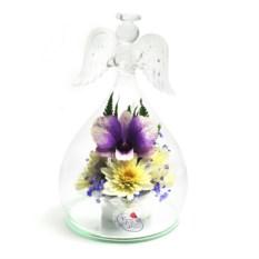 Композиция Ангел из орхидей в подарочной упаковке