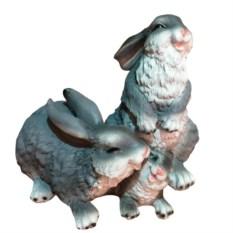 Декоративная фигура Семейка зайцев