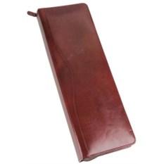 Коричневый кожаный чехол для галстуков