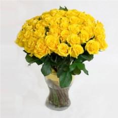 Букет из 51 желтой розы 40 см