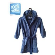 Синий детский/подростковый халат для мальчиков Sport