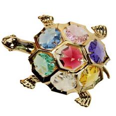 Фигурка декоративная «Черепаха» Swarovski