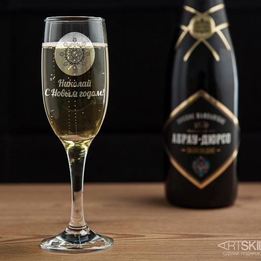 Бокал для шампанского Снежинка