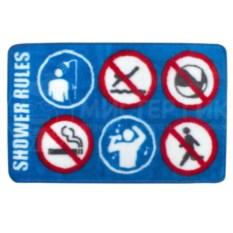 Коврик для ванной Правила душа