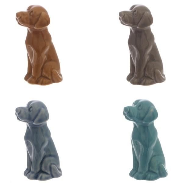 Декоративная фигурка Сидящая собака 4 вида