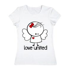 Женская футболка Любовь объединяет