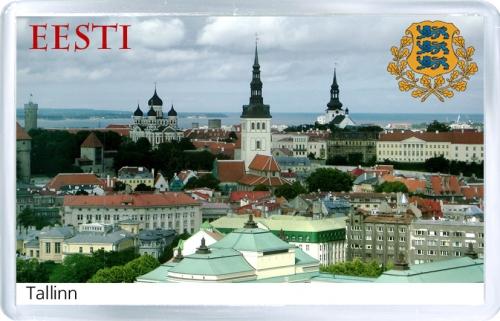Сувенирный магнит на холодильник: Эстония. Таллин