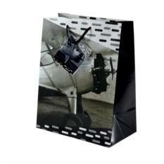 Бумажный подарочный пакет с изображением самолета