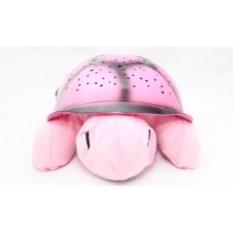 Светильник-проектор Черепаха розового цвета