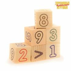 Деревянные кубики для детей Цифры-Счет