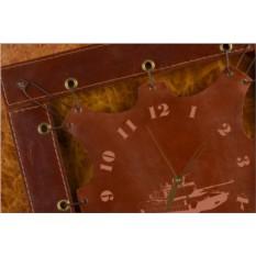 Часы из кожи Танк (коричневый)