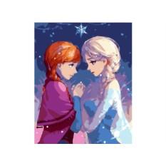 Картина по номерам «Принцессы Эльза и Анна»
