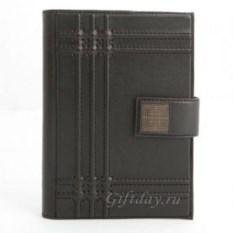 Черный кожаный ежедневник
