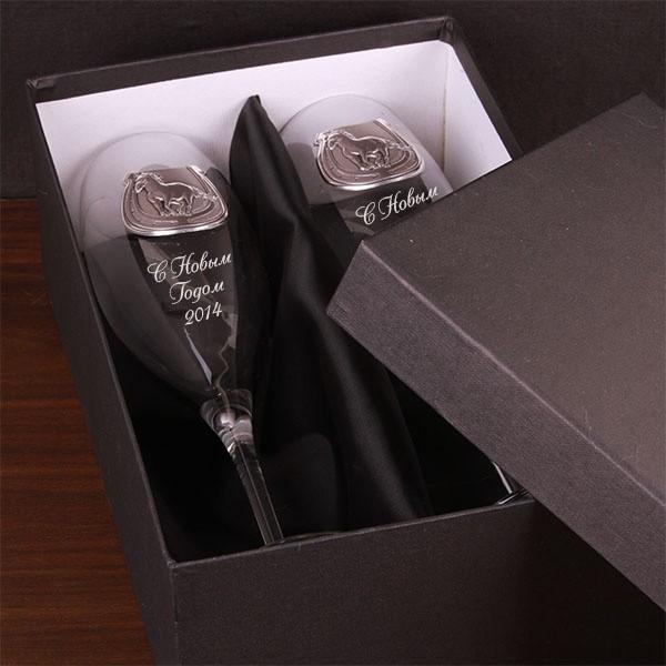 Набор бокалов для шампанского Серебряная подкова