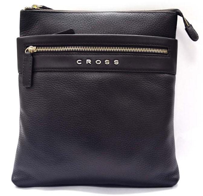Наплечная тонкая коричневая сумка Cross Nueva