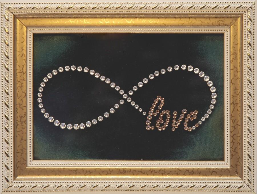 Картина с кристаллами Сваровски Бесконечная любовь