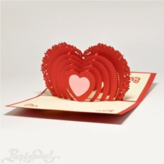 Объемная открытка 3D Сердце