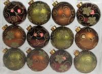 Набор ёлочных игрушек из 12 шт, (красно-зеленые)