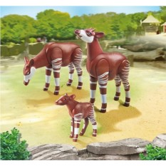 Конструктор Playmobil City Life Zoo Семья Окапи