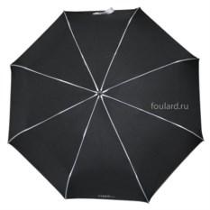 Черный зонт с белыми полосами Ferre Milano